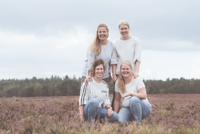September: Michelle en familie